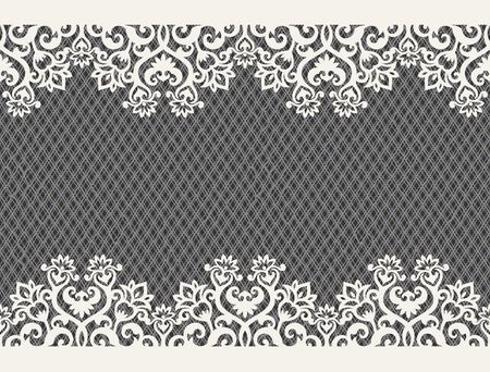 retro lace: horizontal seamless background from a floral ornament Illustration