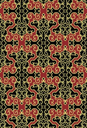 Seamless background from a floral ornament, Fashionable modern wallpaper or textile Stock Vector - 6656469