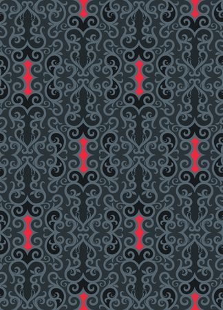 drapery: Seamless background from a floral ornament, Fashionable modern wallpaper or textile