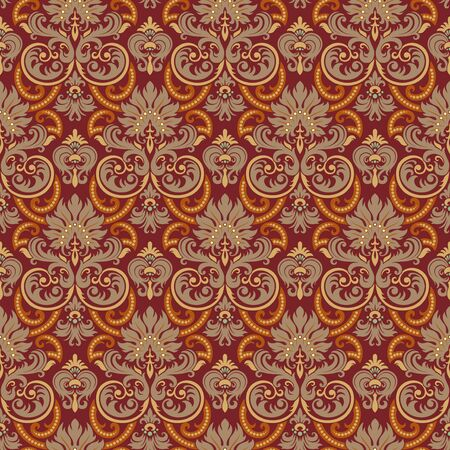 Seamless background from a floral ornament, Fashionable modern wallpaper or textile Stock Vector - 6710525