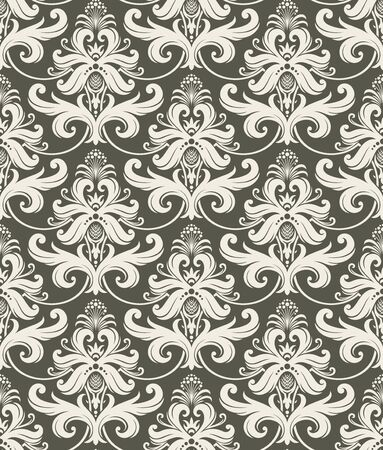 Seamless background from a floral ornament, Fashionable modern wallpaper or textile Stock Vector - 6710524