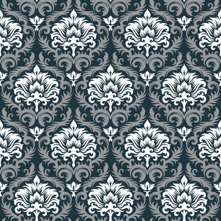 Seamless background from a floral ornament, Fashionable modern wallpaper or textile Stock Vector - 7011452