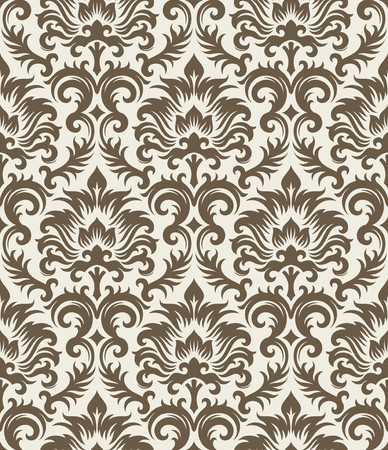 Seamless background from a floral ornament, Fashionable modern wallpaper or textile Stock Vector - 7011457