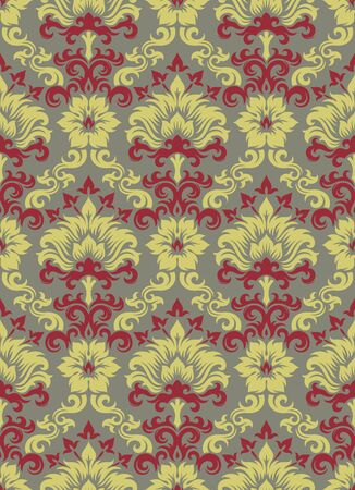 Seamless background from a floral ornament, Fashionable modern wallpaper or textile Stock Vector - 7011448