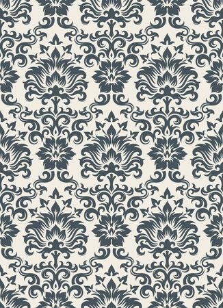 Seamless background from a floral ornament, Fashionable modern wallpaper or textile Stock Vector - 7011455