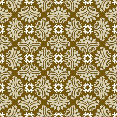Seamless background from a floral ornament, Fashionable modern wallpaper or textile Stock Vector - 7011456
