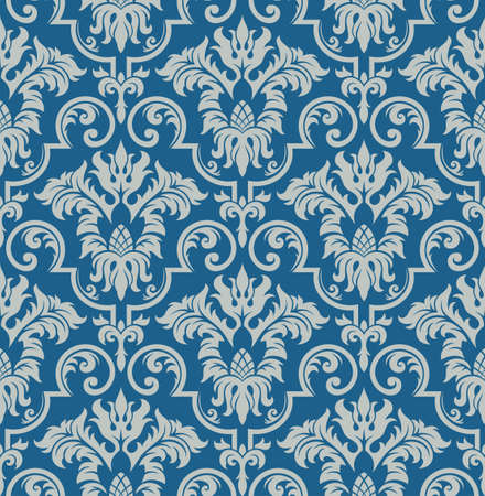 Seamless background from a floral ornament, Fashionable modern wallpaper or textile Stock Vector - 7011454