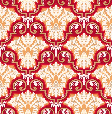Seamless background from a floral ornament, Fashionable modern wallpaper or textile Stock Vector - 7011449