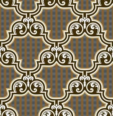Seamless background from a floral ornament, Fashionable modern wallpaper or textile Stock Vector - 7011453