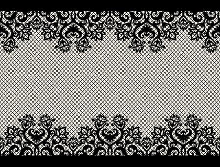 Fondo transparente horizontal de un adorno floral