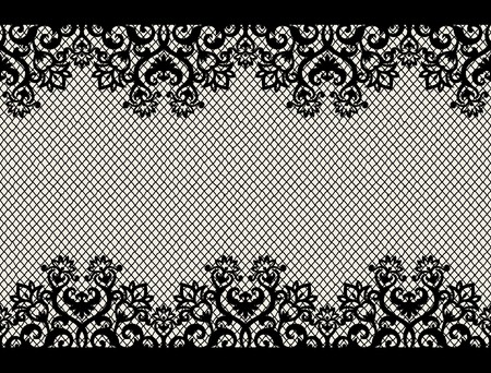 mesh texture: horizontal seamless background from a floral ornament Illustration
