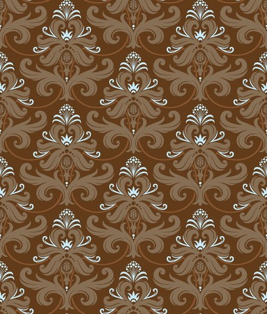 Seamless background from a floral ornament, Fashionable modern wallpaper or textile Stock Vector - 7031985
