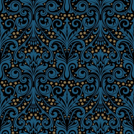 damask wallpaper: Seamless background from a floral ornament, Fashionable modern wallpaper or textile