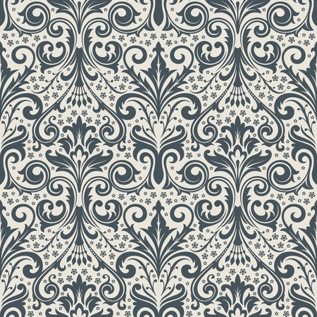 Seamless background from a floral ornament, Fashionable modern wallpaper or textile Stock Vector - 7031992