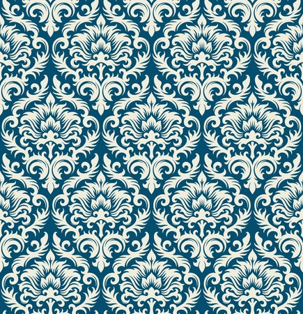Seamless background from a floral ornament, Fashionable modern wallpaper or textile Stock Vector - 7031984