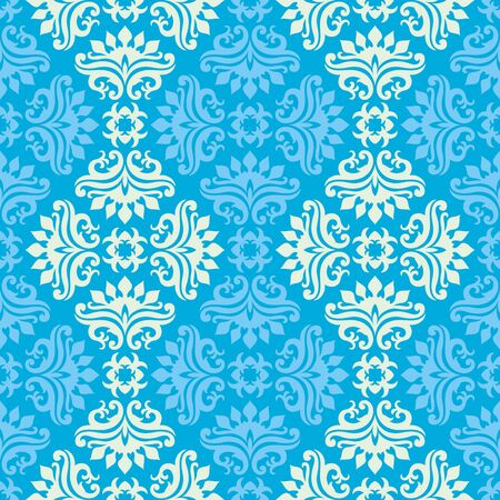 Seamless background from a floral ornament, Fashionable modern wallpaper or textile Stock Vector - 7031941