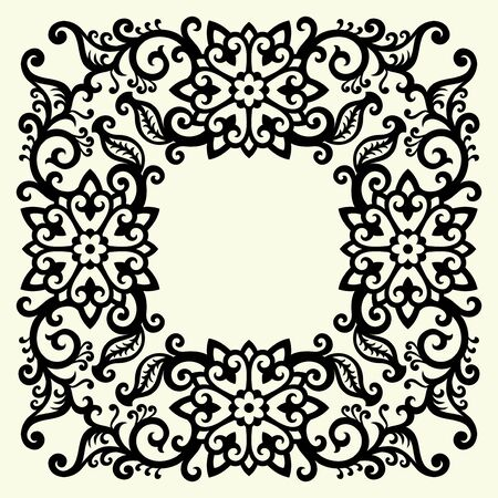 ornament In flower style Stock Vector - 7085368