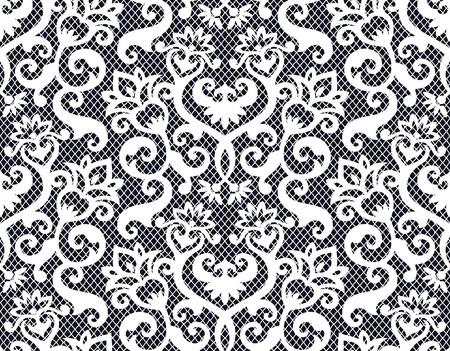Nahtlose Hintergrund aus florales Ornament, modische moderne Wallpaper oder textile Vektorgrafik