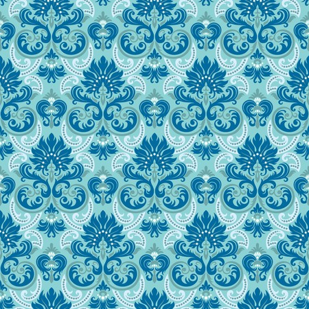 repeat: Seamless background from a floral ornament, Fashionable modern wallpaper or textile