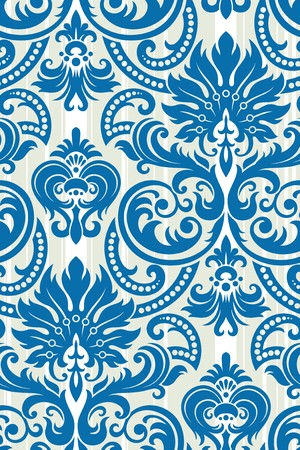 Seamless background from a floral ornament, Fashionable modern wallpaper or textile Stock Vector - 7085354
