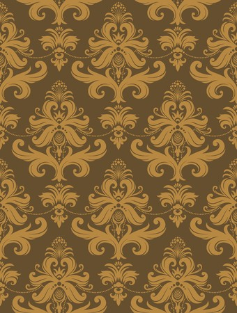 costly: Seamless background from a floral ornament, Fashionable modern wallpaper or textile
