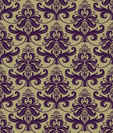 Seamless background from a floral ornament, Fashionable modern wallpaper or textile Stock Vector - 7085353