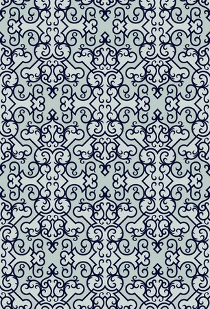 Seamless background from a floral ornament, Fashionable modern wallpaper or textile Stock Vector - 7087819