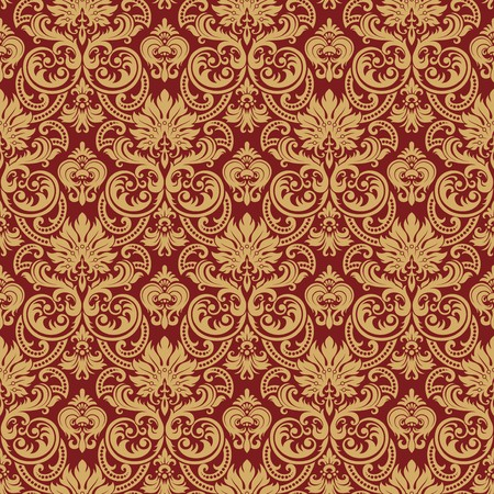 Seamless background from a floral ornament, Fashionable modern wallpaper or textile Stock Vector - 7087818