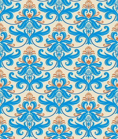 Seamless background from a floral ornament, Fashionable modern wallpaper or textile Stock Vector - 7087835