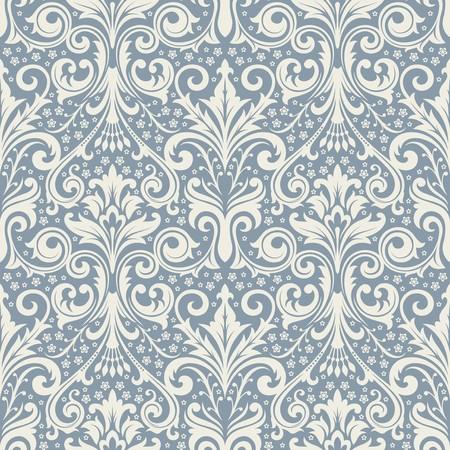 baroque: Fondo transparente de una ornamentaci�n floral, moda de papel tapiz moderno o textil Vectores