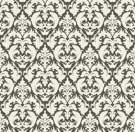 leafs: Sfondo senza soluzione di continuit� da un ornamento floreale, moda moderni wallpaper o tessili