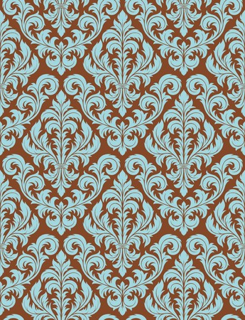 Seamless background from a floral ornament, Fashionable modern wallpaper or textile Stock Vector - 7087827