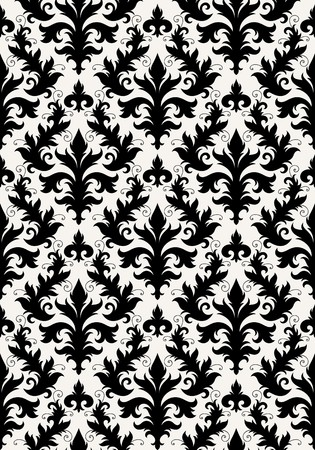 tiled: Seamless background from a floral ornament, Fashionable modern wallpaper or textile