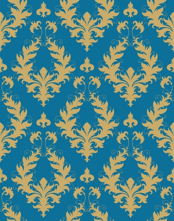 damask seamless: Seamless background from a floral ornament, Fashionable modern wallpaper or textile