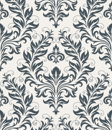 Seamless background from a floral ornament, Fashionable modern wallpaper or textile Stock Vector - 7087814