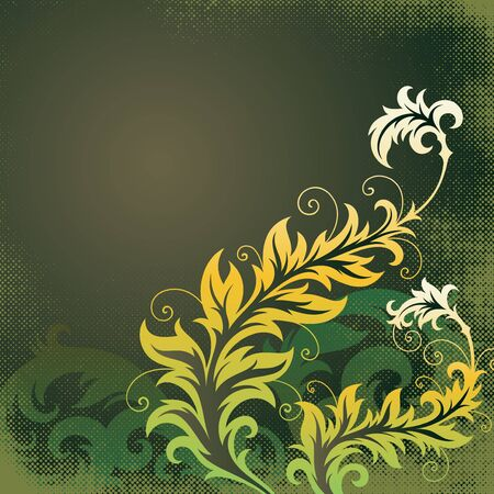 ornament In flower style Stock Vector - 7103726