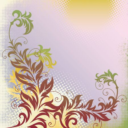 ornament In flower style Stock Vector - 7103728
