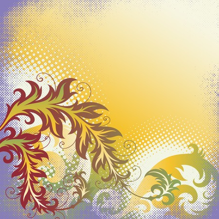 ornament In flower style Stock Vector - 7103727