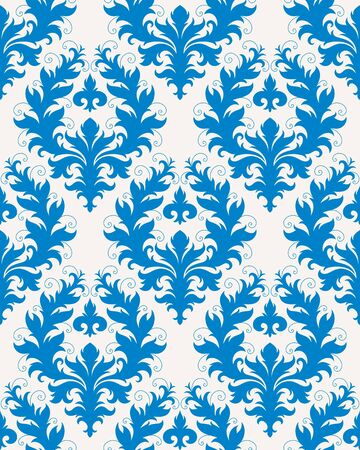 Seamless background from a floral ornament, Fashionable modern wallpaper or textile Stock Vector - 7103706