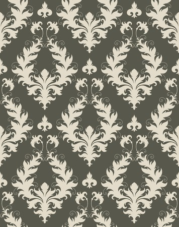 Seamless background from a floral ornament, Fashionable modern wallpaper or textile Stock Vector - 7103710