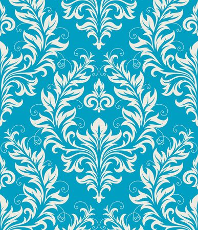 Seamless background from a floral ornament, Fashionable modern wallpaper or textile Stock Vector - 7103712