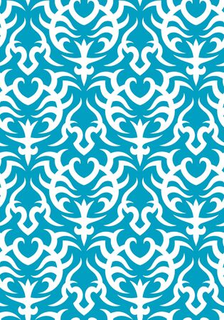 Seamless background from a floral ornament, Fashionable modern wallpaper or textile Stock Vector - 7103698
