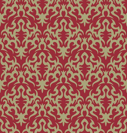 Seamless background from a floral ornament, Fashionable modern wallpaper or textile Stock Vector - 7103696