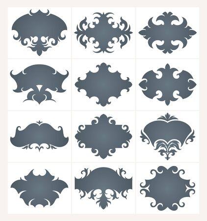 ornamente: Collection of design vector frames