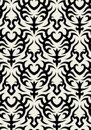 Seamless background from a floral ornament, Fashionable modern wallpaper or textile Stock Vector - 7145945