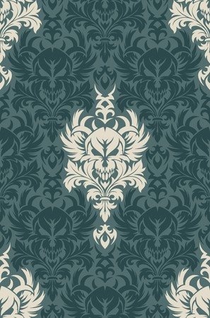 Seamless background from a floral ornament, Fashionable modern wallpaper or textile Stock Vector - 7230101