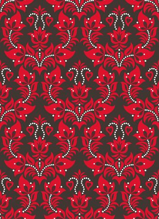 Seamless background from a floral ornament, Fashionable modern wallpaper or textile Stock Vector - 7230098
