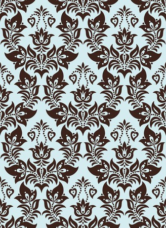 Seamless background from a floral ornament, Fashionable modern wallpaper or textile Stock Vector - 7230106