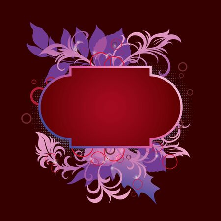 template frame In flower style Vector