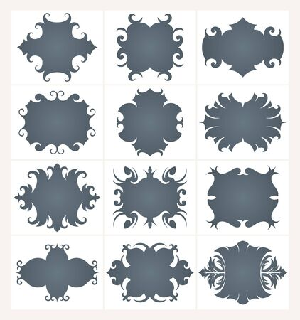 Collection of design  frames  Vector